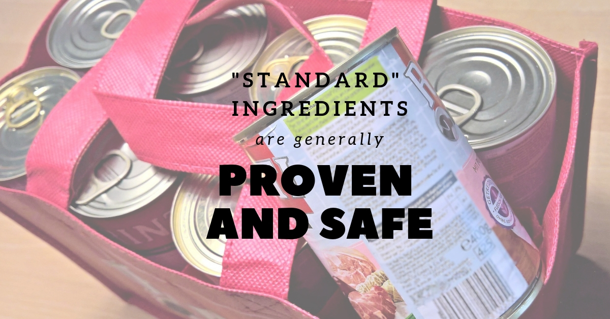 Standard ingredients are generally proven and safe