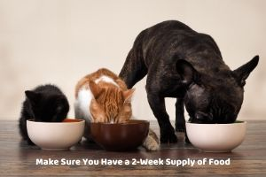 have 2 week pet food supply covid