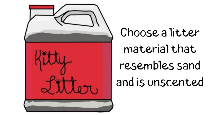 An illustration of a container of kitty litter