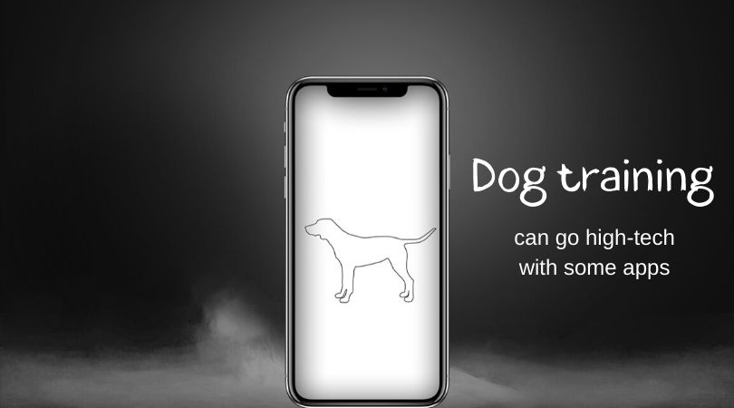 A graphic of a dog on a smartphone screen