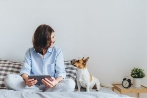 dogs help with stress