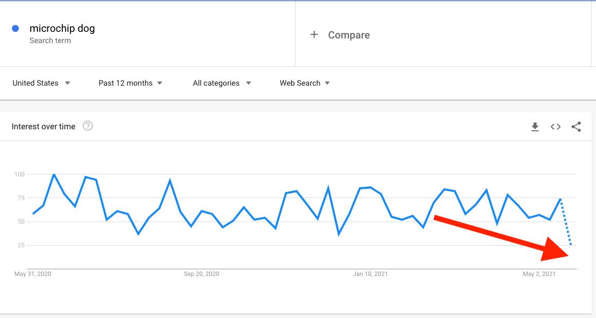 microchip google searches